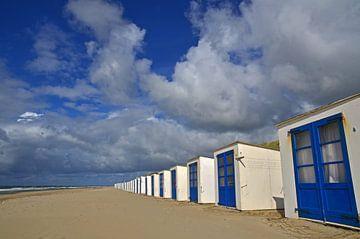 Strandhäuser am Texeler Strand von Wim van der Geest