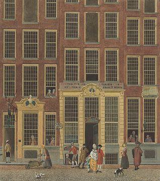 De boekhandel en het loterijkantoor van Jan de Groot in de Kalverstraat te Amsterdam van