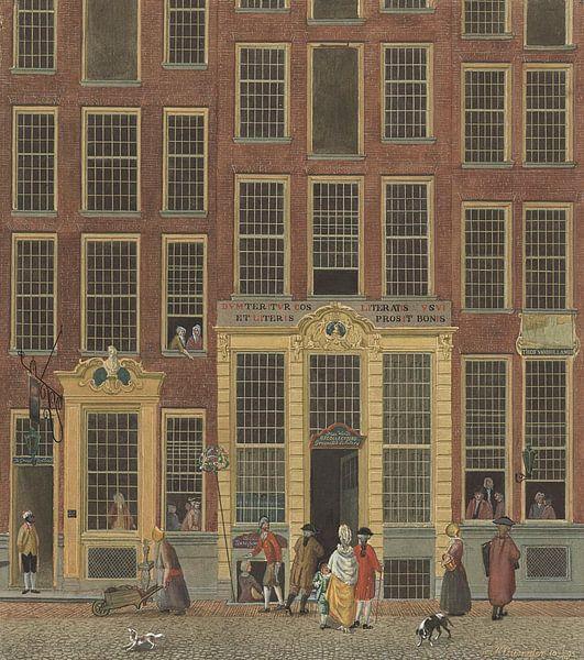 De boekhandel en het loterijkantoor van Jan de Groot in de Kalverstraat te Amsterdam
