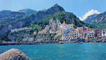 Italië - Amalfikust - Amalfi van Dirk van der Ven