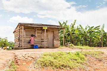 Afrikaans hotel in the middel of nowhere in Oeganda van Laura de Kwant
