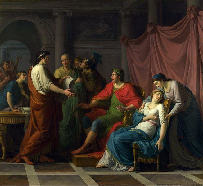 Jean-Auguste-Dominique Ingres. Virgil reading the Aeneid van 1000 Schilderijen