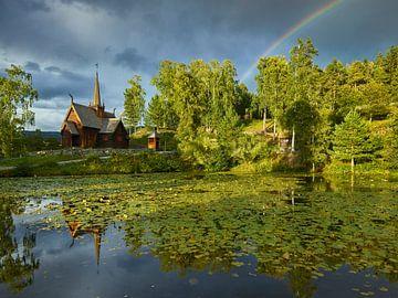 Regenbogen in Garmo von Rainer Mirau