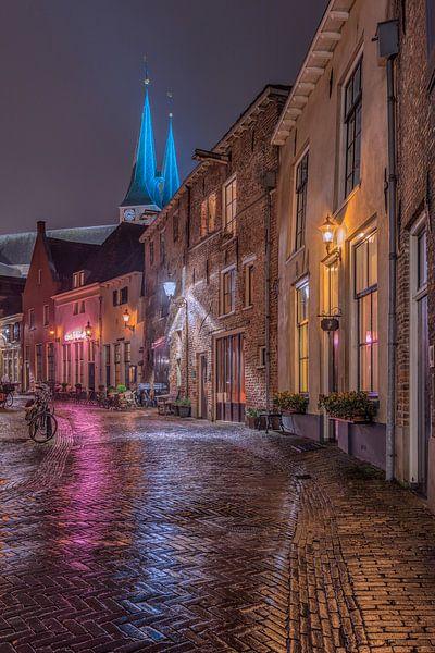 Deventer in de avond van Dennisart Fotografie