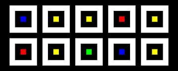 Nested | Center | 05x02 | N=02 | Random #14 | RGBY van Gerhard Haberern