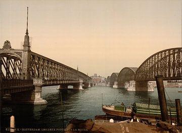 The two bridges on the Meuse, Rotterdam sur