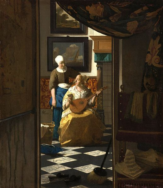 Johannes Vermeer. De Liefdesbrief van 1000 Schilderijen