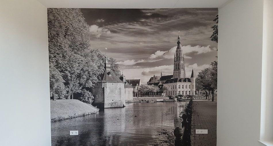 Klantfoto: Breda Spanjaardsgat vanaf Prinsenkade van Jean-Paul Wagemakers, op behang