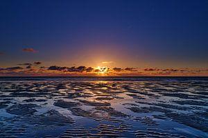 Zonsondergang te Burgh-Haamstede van Bastiaan Vogel