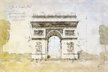 Arc de Triomphe, Paris sur Theodor Decker