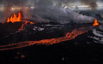 Fissure eruption at Holuhraun/Bardarbunga volcano (Iceland) sur Lukas Gawenda