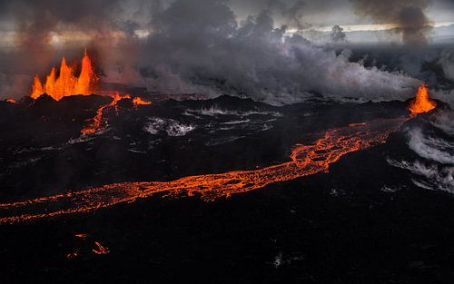 Fissure eruption at Holuhraun/Bardarbunga volcano (Iceland) van