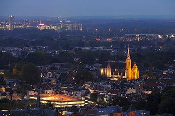 Binnenstad van Utrecht met Catharijnekerk  van Donker Utrecht