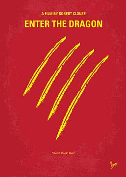 No026 My Enter the dragon minimal movie poster van Chungkong Art