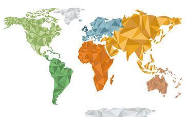 Bunte geometrische Weltkarte von Nynke Altenburg