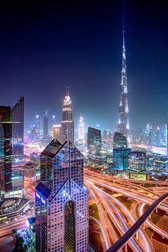 Burj Khalifa illuminant le ciel sur Rene Siebring