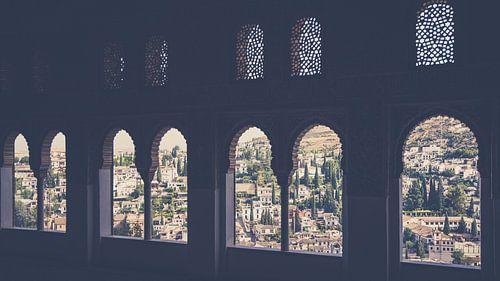 Uitzicht vanaf het Alhambra op Granada