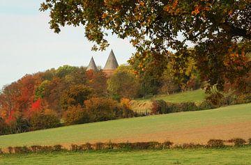 Abdij Sint-Benedictusberg tijdens de herfst