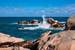 Atlantic ocean coast in Brittany van