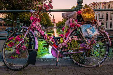 Bloemenfiets in Den Haag van Kevin Coellen