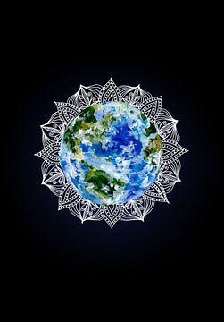 Planet Erde Mandala von ZeichenbloQ