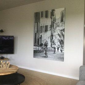 Klantfoto: Mathieu van der Poel wint de Strade Bianche (Z/W) van Leon van Bon, op canvas