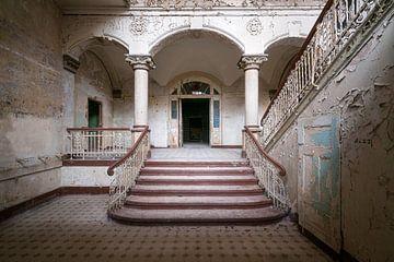 Verlaten Trap in Beelitz. van Roman Robroek