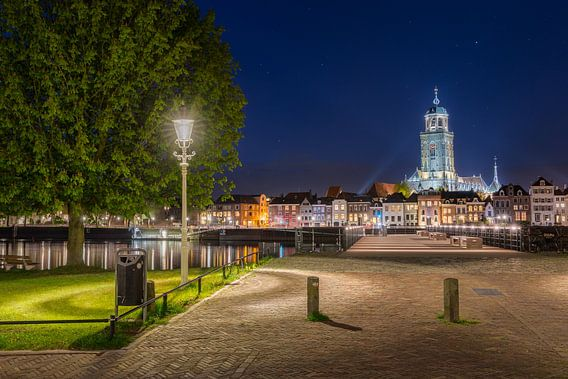 Deventer skyline vanaf de Worp van Edwin Mooijaart