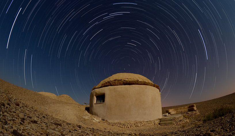 Sterrensporen Negev woestijn van Gerben van den Hazel