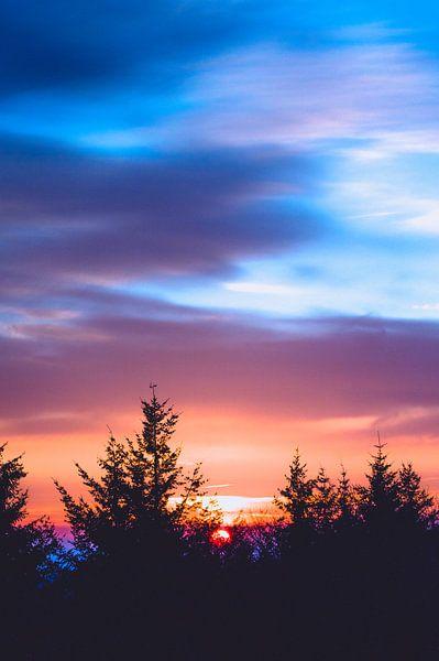 Zonsopkomst in de koude ochtend