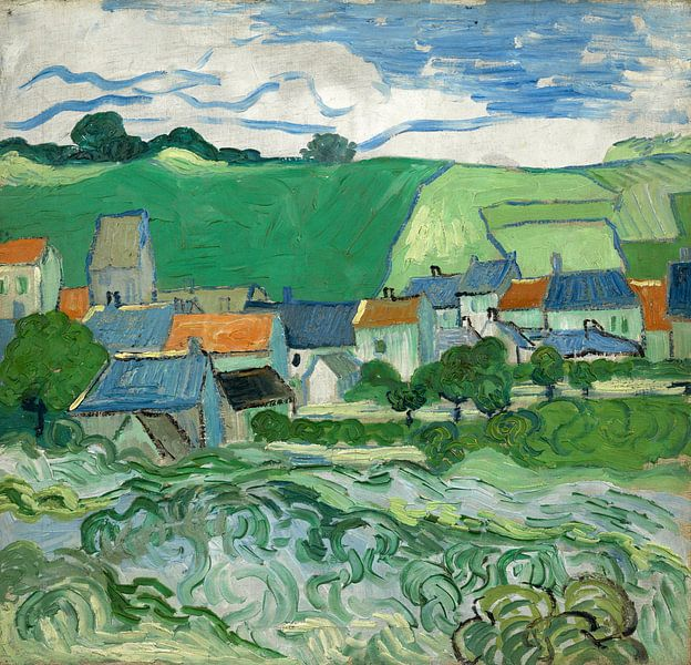 Vincent van Gogh, Gezicht op Auvers van 1000 Schilderijen