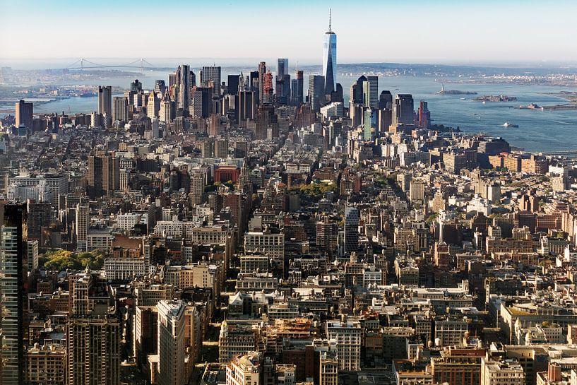 Stadtüberblick New York van Kurt Krause