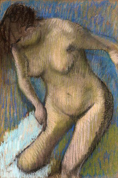 Edgar Degas, Après le bain - 1886 sur Atelier Liesjes