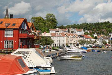 Haven van Grimstad (Noorwegen). van Fred Fiets