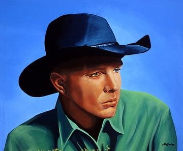 Garth Brooks painting sur Paul Meijering