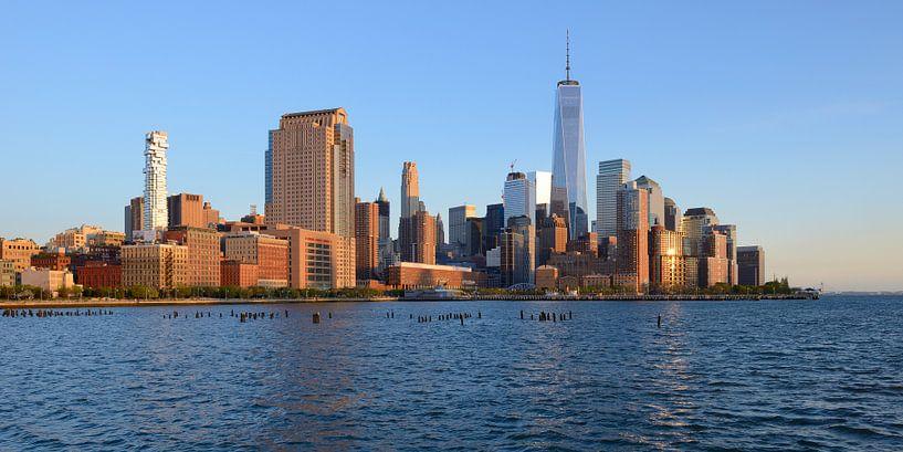 Manhattan Skyline, panorama van Merijn van der Vliet