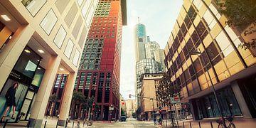 Frankfurt Straßenschlucht von Frank Wächter