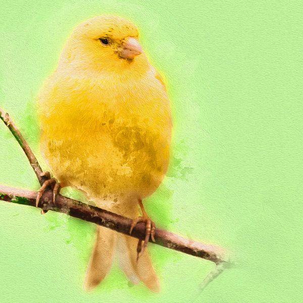 Gele kanarie van Art by Jeronimo