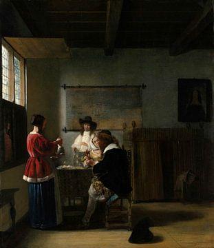 Der Besuch, Pieter de Hooch