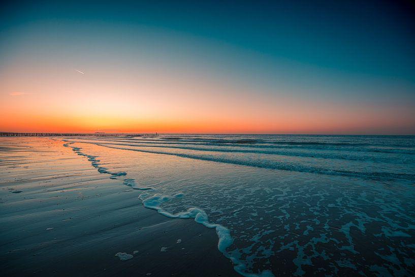 Domburg strand zonsondergang 4 van Andy Troy