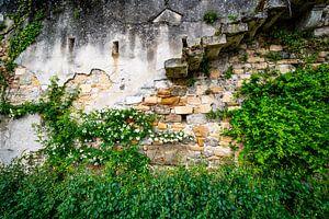 oude muur van