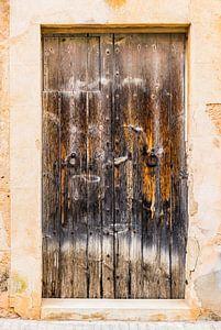 Vintage oude grunge houten voordeur van Alex Winter