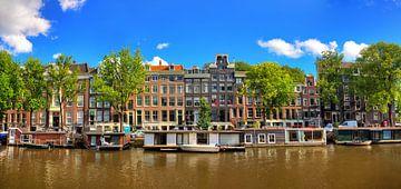 Schaduwgracht Amsterdam panorama sur
