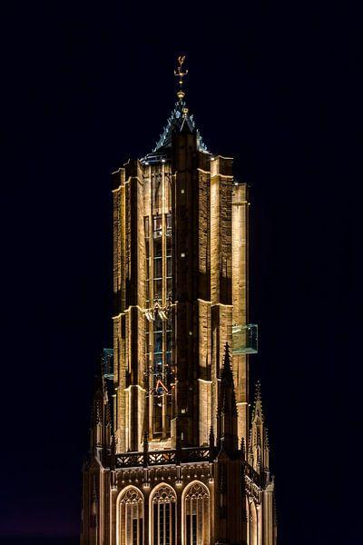 Nachtfoto Eusebius kerk te Arnhem van Anton de Zeeuw