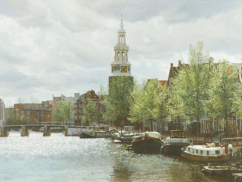 Schilderij: Waalseilandgracht, Amsterdam van Igor Shterenberg