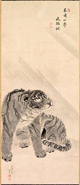 Maruyama Okyo. Tiger bei Wind und Regen