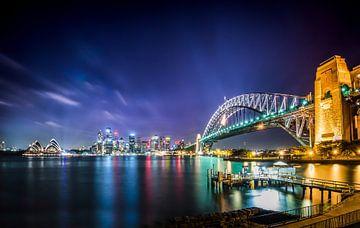 Die Skyline von Sydney bei Nacht von Ricardo Bouman