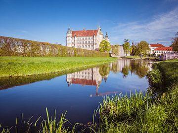 Gezicht op kasteel Güstrow in Mecklenburg-Vorpommern Duitsland van Animaflora PicsStock