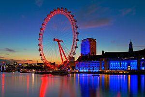 Londen Eye nachtfoto