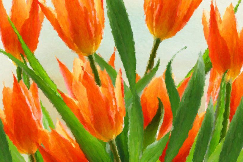 tulpen abstract van Marion Tenbergen